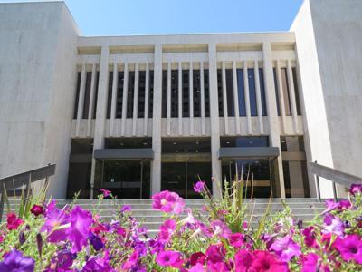 Idaho Supreme Court building flowers generic
