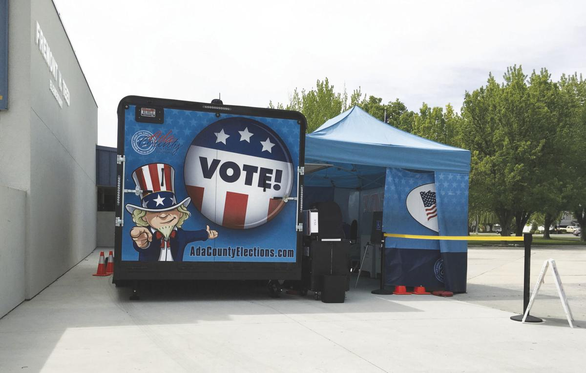 Mobile voting at Teed Elementary