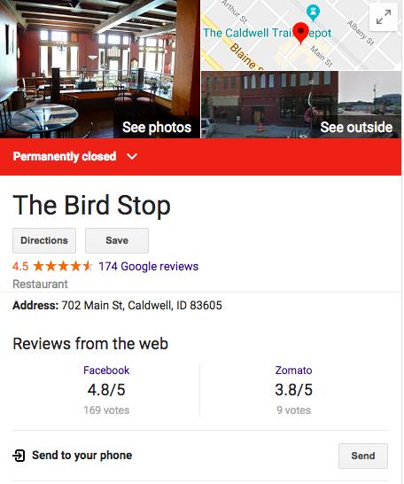 Bird Stop Closing