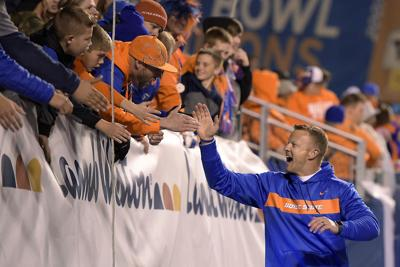 Bryan Harsin with fans