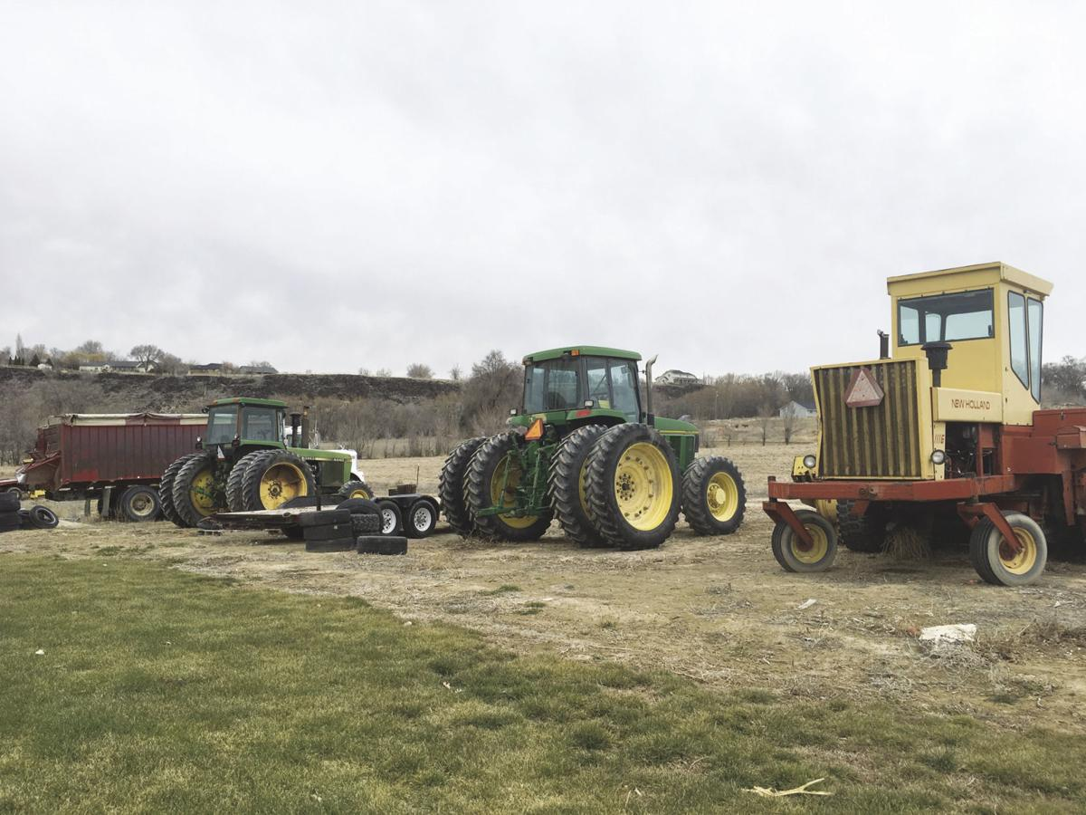 Equipment is lined up to be retired