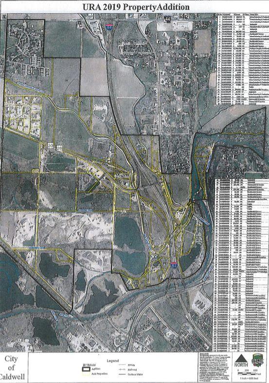 Proposed Caldwell Revenue Allocation Area