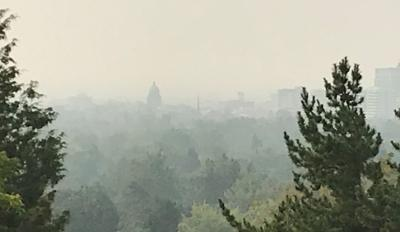 Smoke Boise skyline
