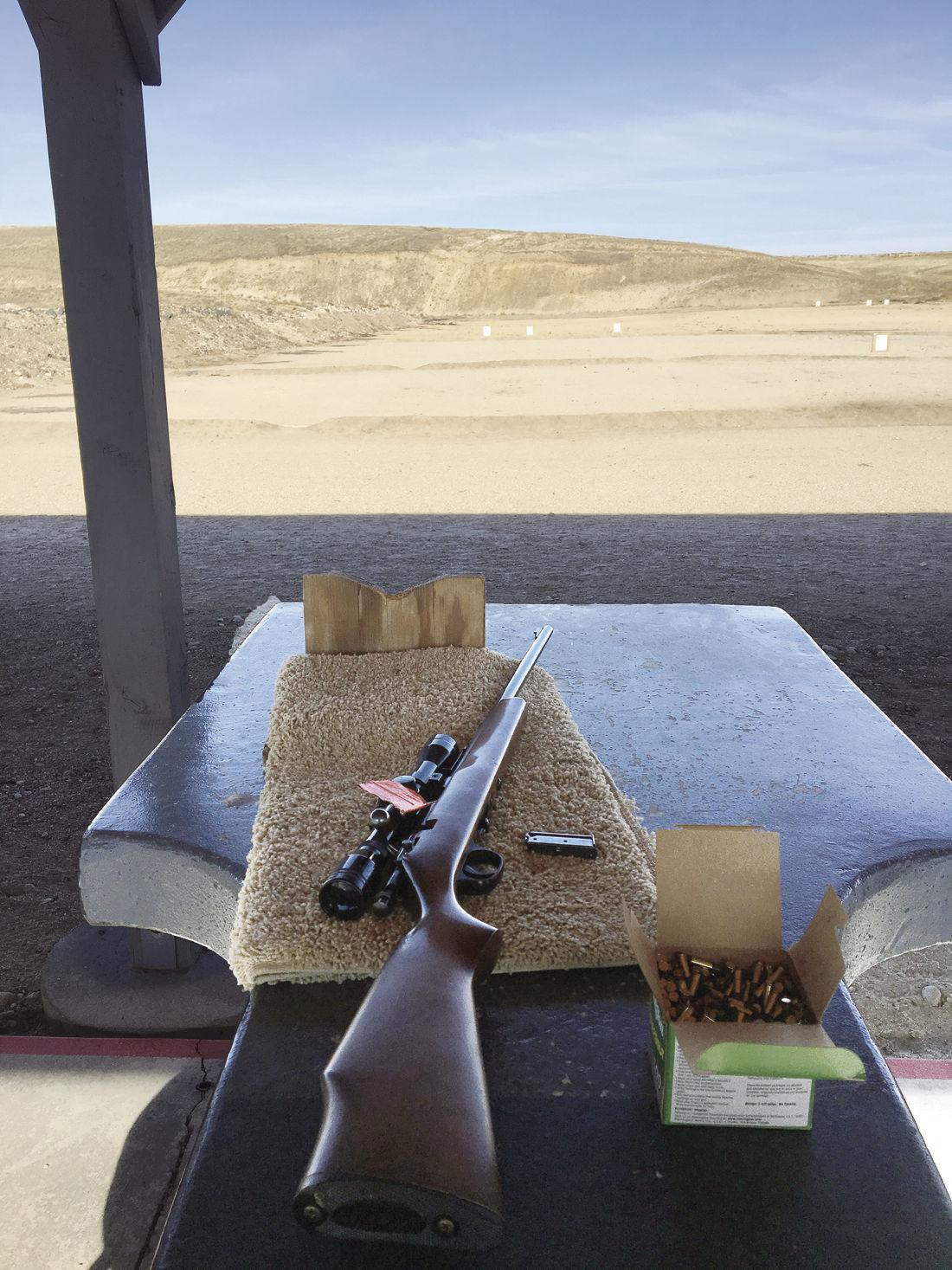 Marlin at the shooting range