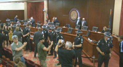 Cops remove special session