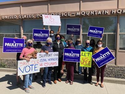 Paulette Jordan mountain home press conf photo