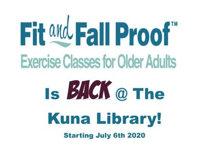 Fit and Fall Proof is back at Kuna Library