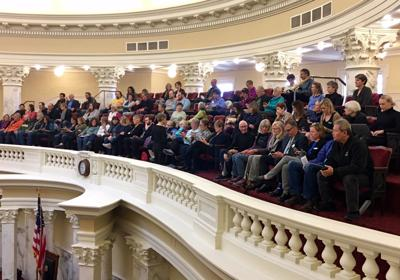 Senate gallery crowd