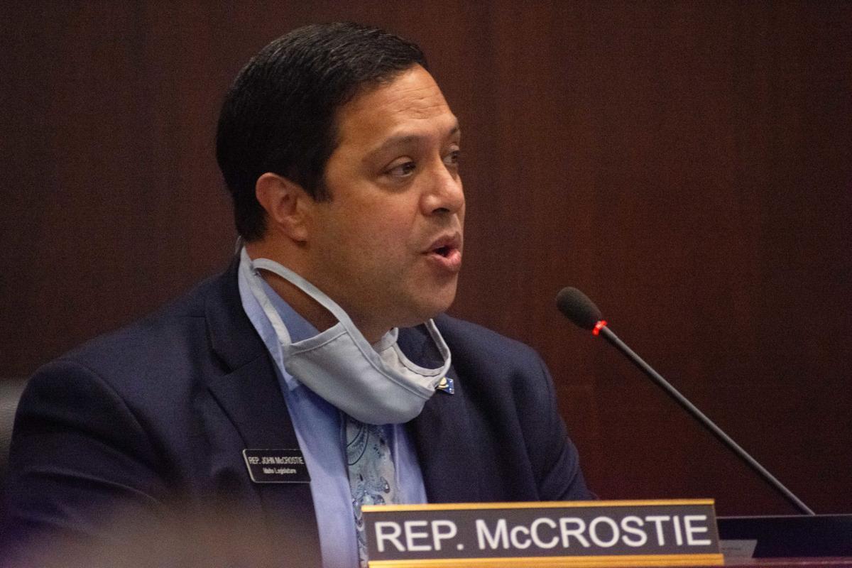 John McCrostie at Ethics hearing, by James Dawson
