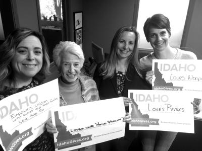 Idaho Gives: Elizabeth Lizberg, Madie Rothchild, Anna Buschbacher and Amy Little
