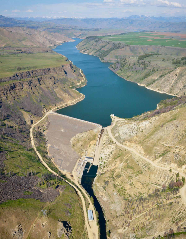 Anderson Ranch Dam aerial 2018