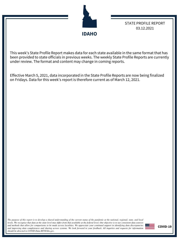 Idaho 3.12.2021 - White House Coronavirus Task Force