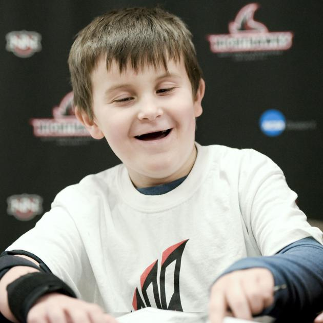 NNU soccer team gifts letter of intent signing to 8-year-old Melba