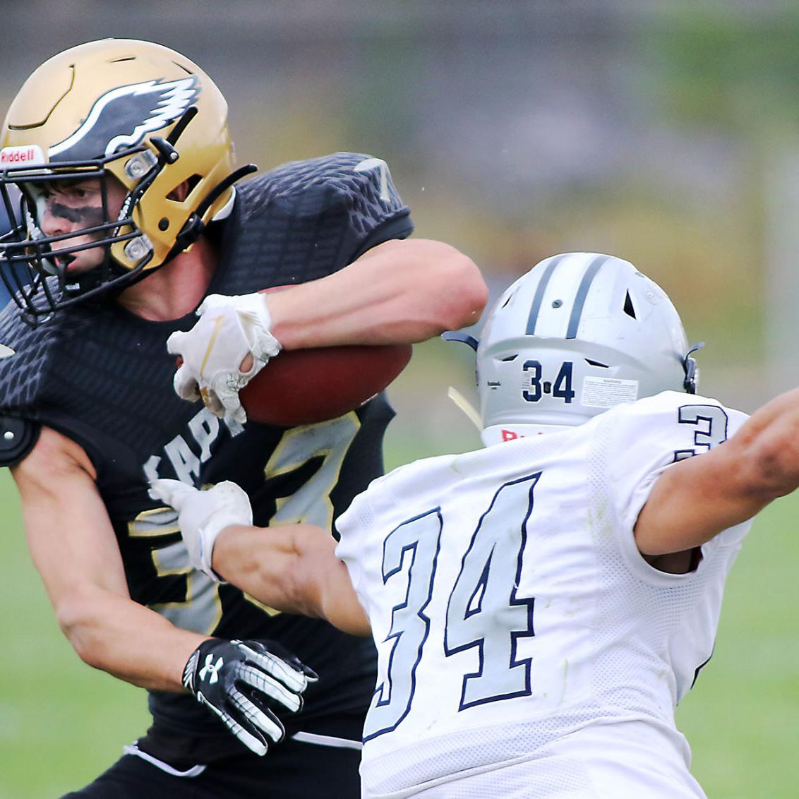 Worth the wait: Capital starts fast, rolls to 55-12 win over Skyview in unique season opener
