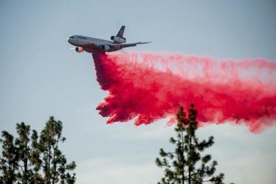 AP fire retardant drop from plane, generic