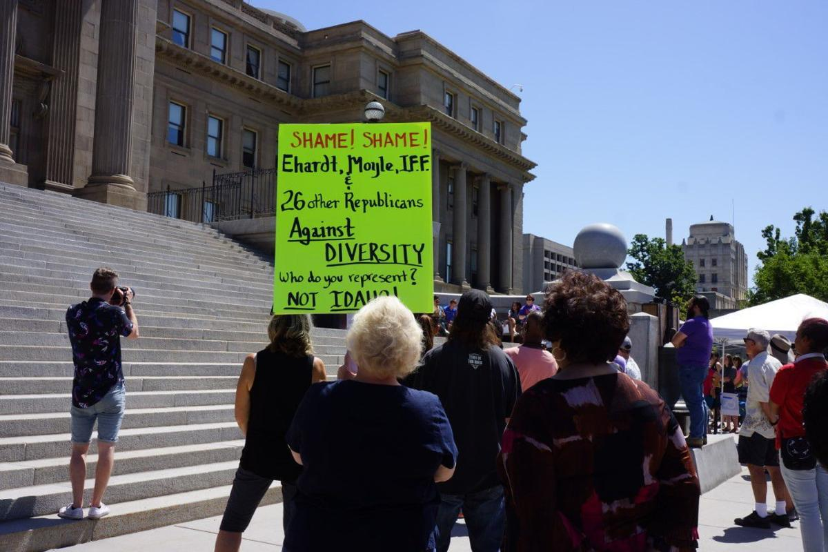 Boise State students, community rally for diversity, inclusion at Capitol