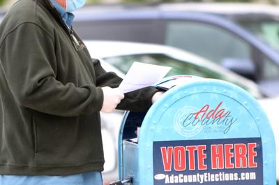 Mail-in ballots at Ada County Elections office