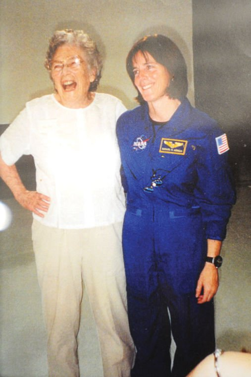 Kay Gott with Idaho astronaut Barbara Morgan
