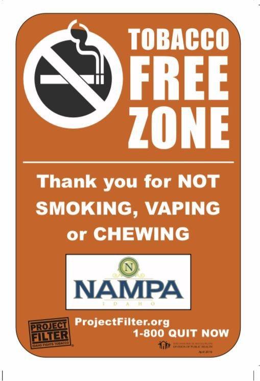 Nampa anti-smoking signs