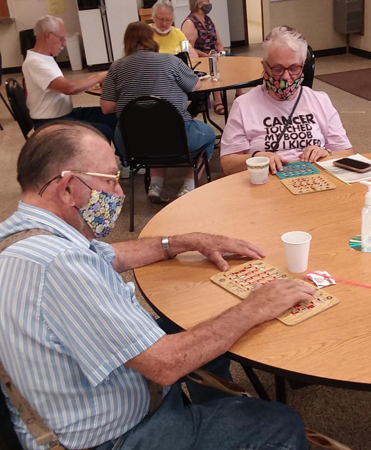 Kuna seniors play Bingo following reopening