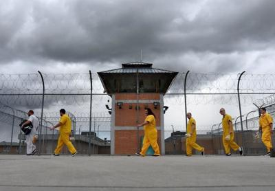 Prison inmates ISCI file yard and tower