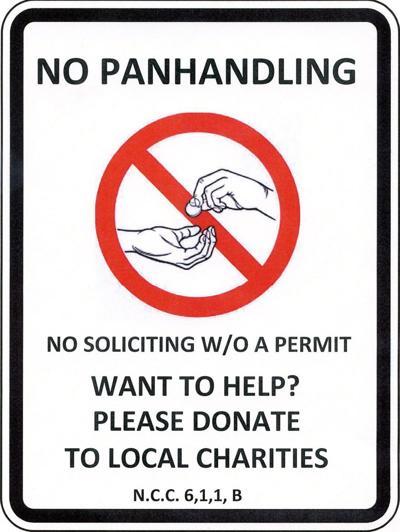 anti-panhandling signs