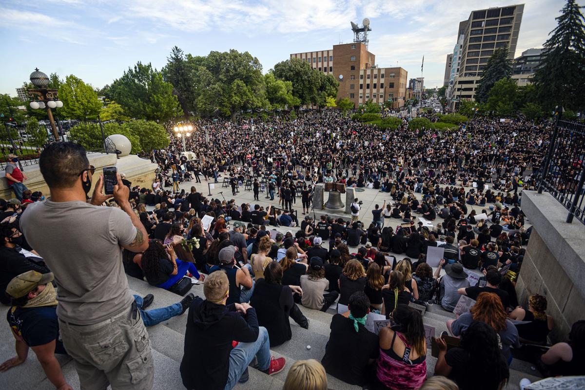 George Floyd vigil Boise