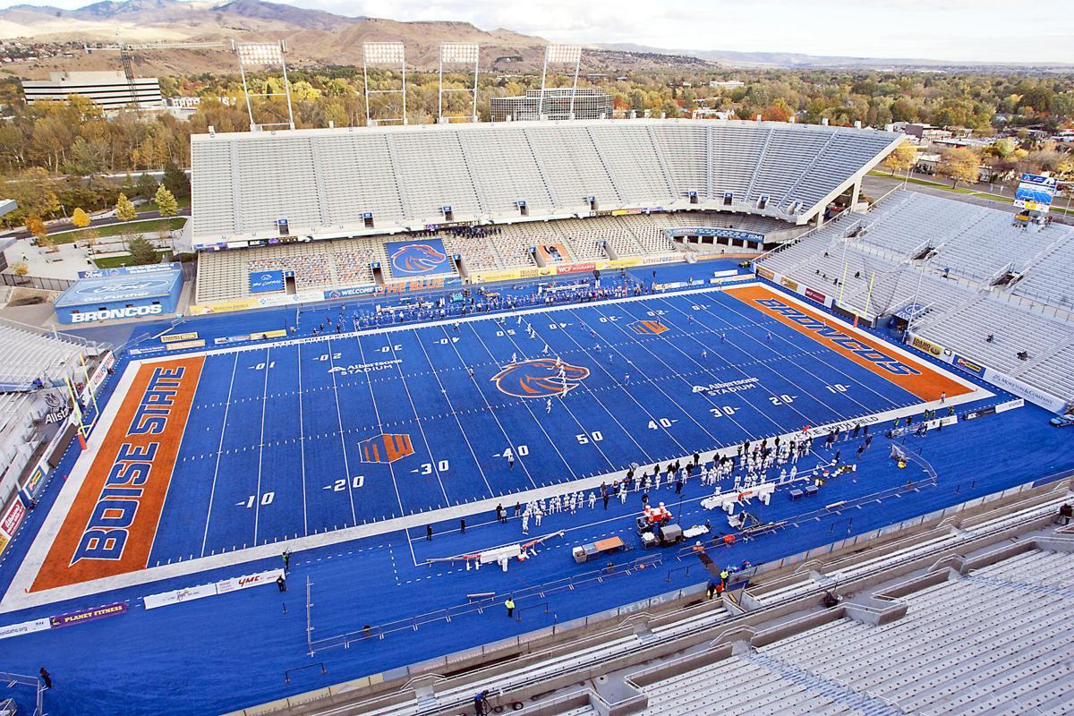 Empty BSU stadium during COVID
