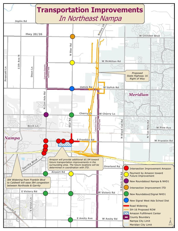 Amazon transportation project map