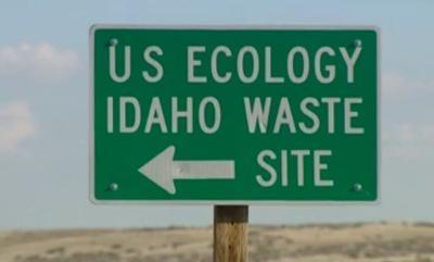 US Ecology Idaho Waste Site sign