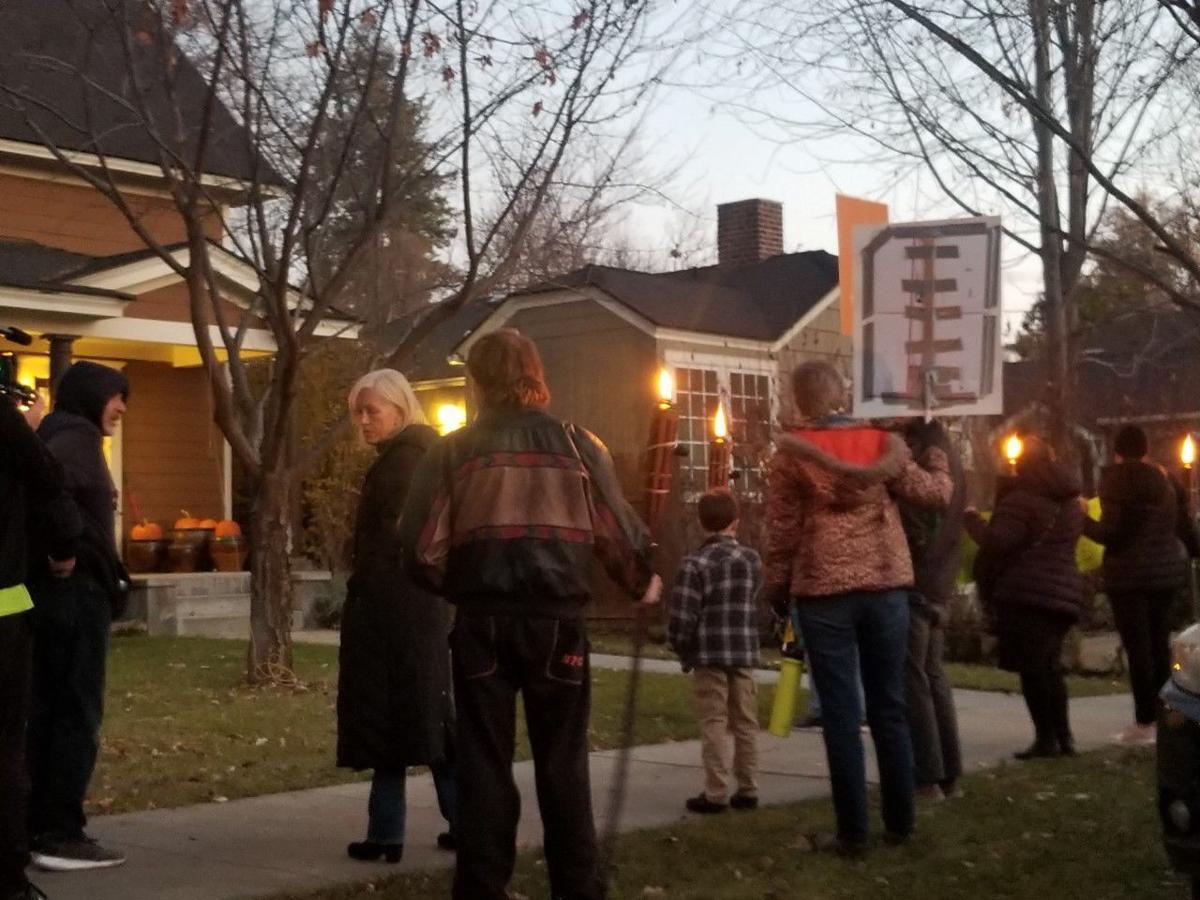Lauren McLean home protest