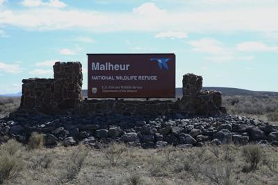 Malheur Wildlife Refuge sign AP file