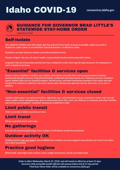Governor Little issues statewide stay-home order