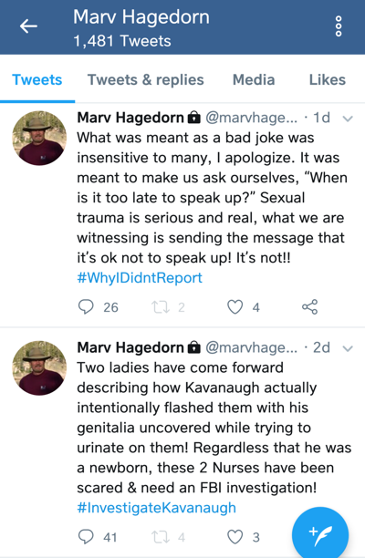Hagedorn tweets