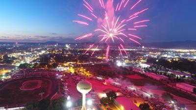 Fireworks over Meridian Speedway
