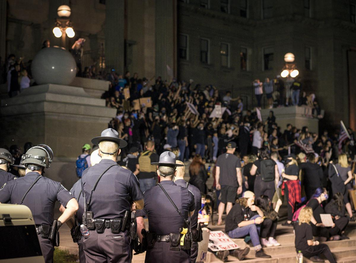 Reporter's Notebook: Observations after two nights of protests at the Idaho Capitol