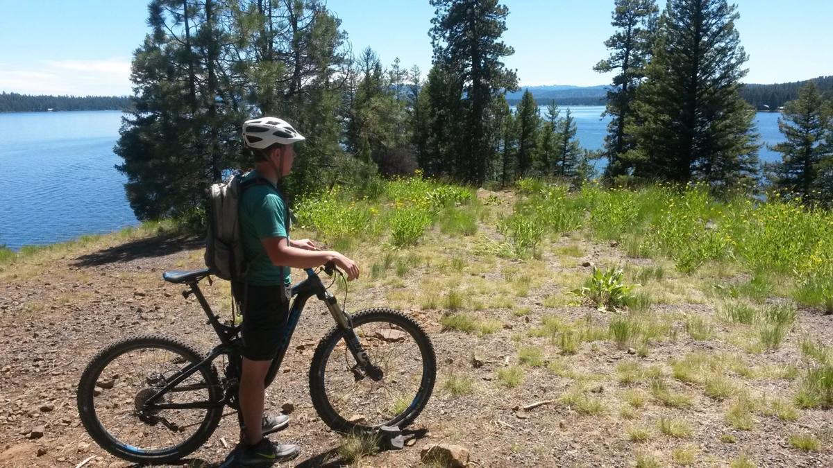 Payette Lake lookout mountain bike