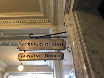 Secretary of State sign