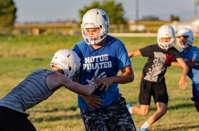 Notus Football practice