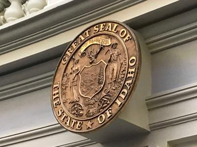 State seal in the Idaho House chamber