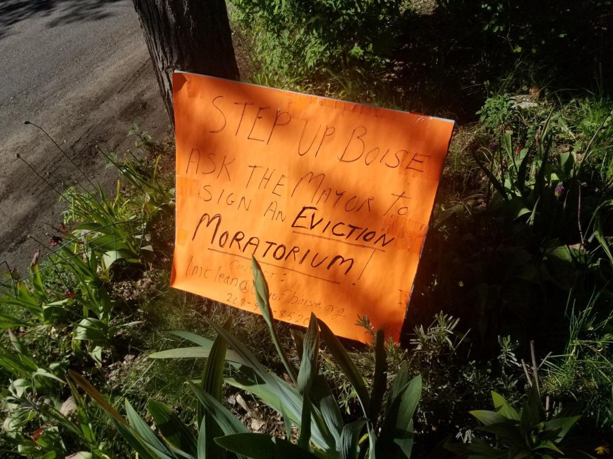 Eviction moratorium sign