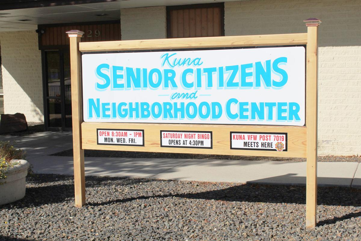 Kuna Senior Center sign - New