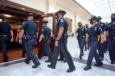 Cops Capitol Idaho by Brian 8-25-20