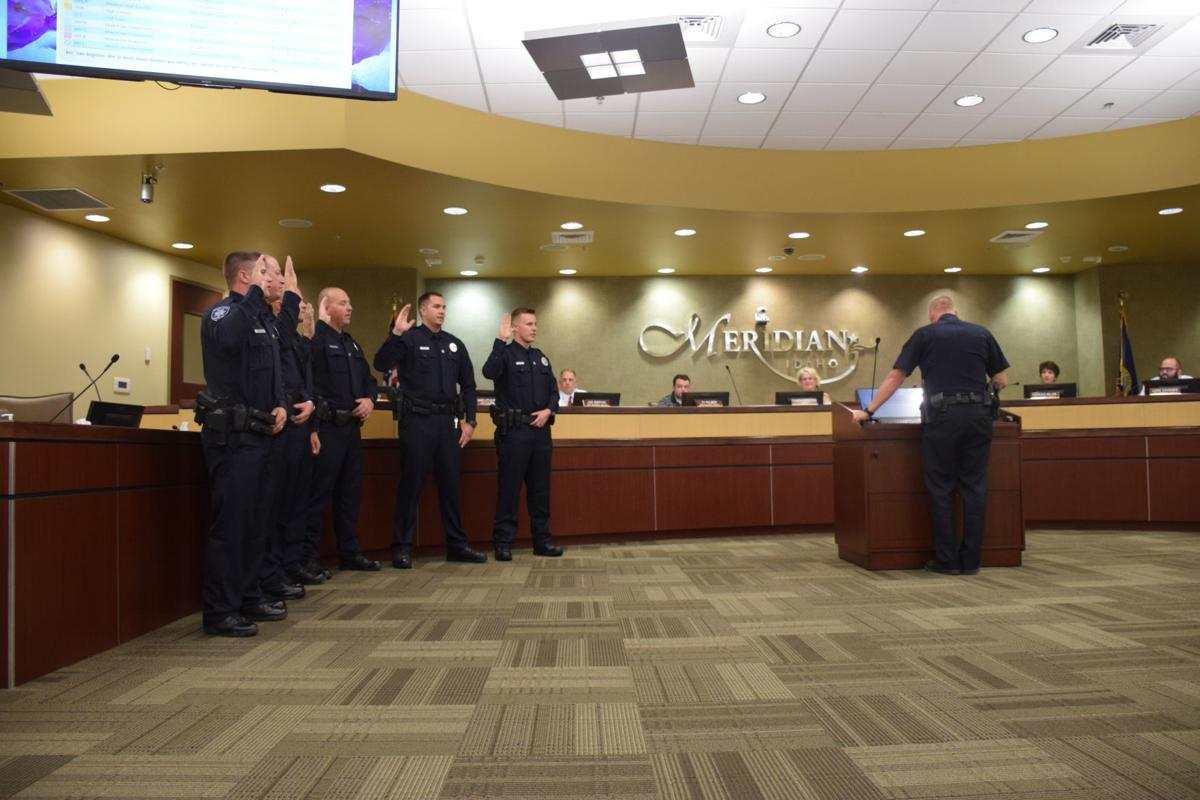 Six new officers