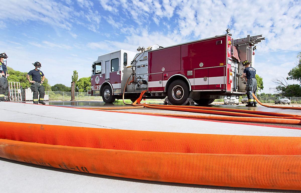 Boise Firefighter training