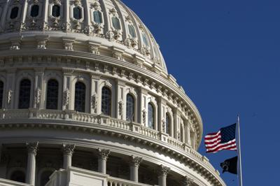 US Capitol Dome with flag generic AP