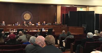 Ethics hearing testimony screen