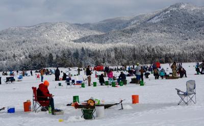 Ice fishing in Idaho