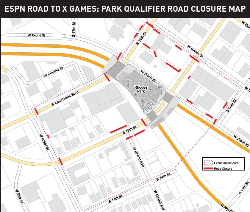 Here's what you should know about road closures and parking during Road to X Games