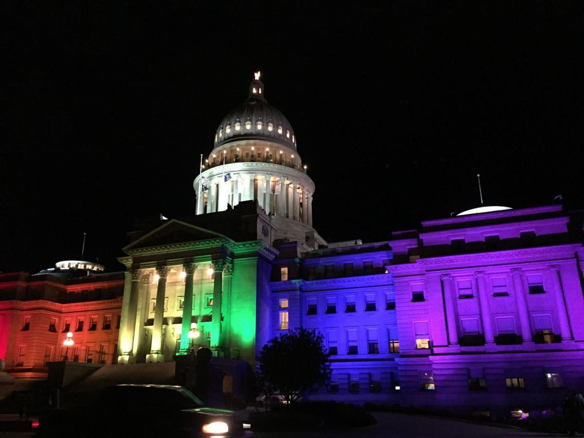 Boise Pride Pridefest Capitol Lights Rainbow